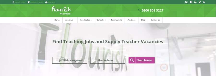 Flourish education recruitment website [Case study]