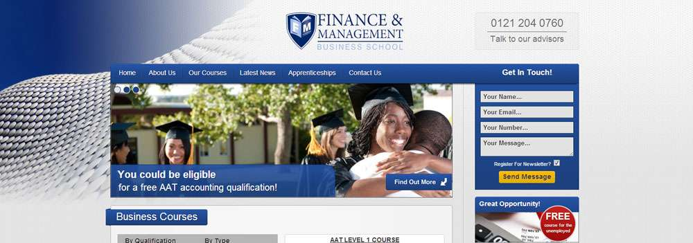 The Finance and Management Business School - portfolio image