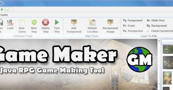 Java RPG Game Maker for Windows, PC, MAC, Linux