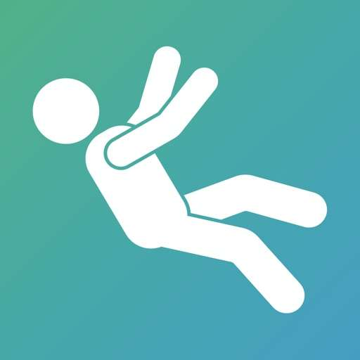istumble app logo - vector of a person falling over