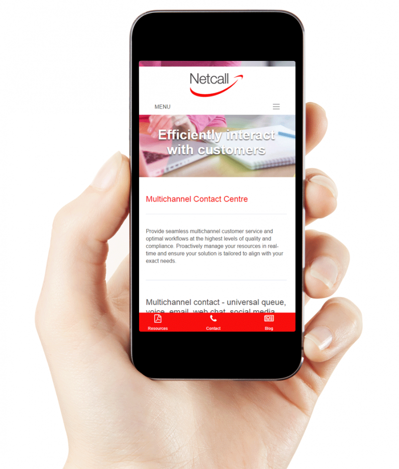 Netcall responsive website
