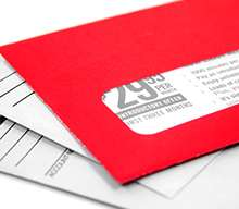 a red envelope on top of normal envelopes, representing bespoke features