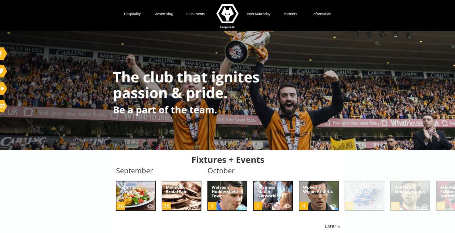 Corporate Wolves website [Case study] stage image